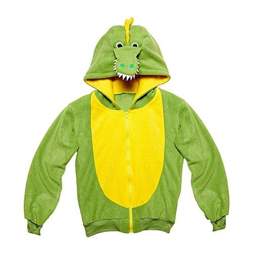 Widmann 07029 - Erwachsenenkostüm Krokodil, Kapuzenpullover, grün, Größe L / (Aligator Kostüme)