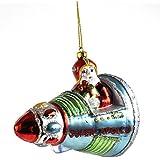 Decoración de la Navidad: papá noel y su nave espacial