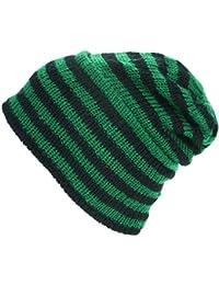 21e18b283751b3 LOUDelephant Wool Knit Ridge Beanie Hat With Fleece Lining