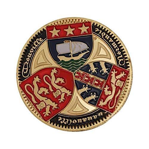 Xinmeitezhubao Gedenkmünze Sammlung amerikanischen Militär Gedenkmünze DREI-Farben-Schild vergoldet Münze Military Fan Abzeichen Medaillon -