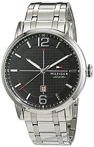 Reloj analógico para hombre Tommy Hilfiger 1791215, mecanismo de cuarzo, diseño clásico, correa de acero inoxidable.