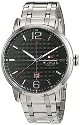Caballeros-reloj analógico Casual Deportivo Tommy Hilfiger de acero inoxidable de cuarzo 1791215