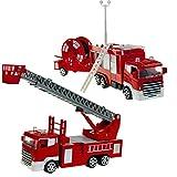 Unbekannt Feuerwehrstation inklusive 2 Autos und 1 Schlauchwagen • Feuerwehr Kinder Spielzeug Feuerwehrauto Rettungswagen Lösch Fahrzeug Auto Set