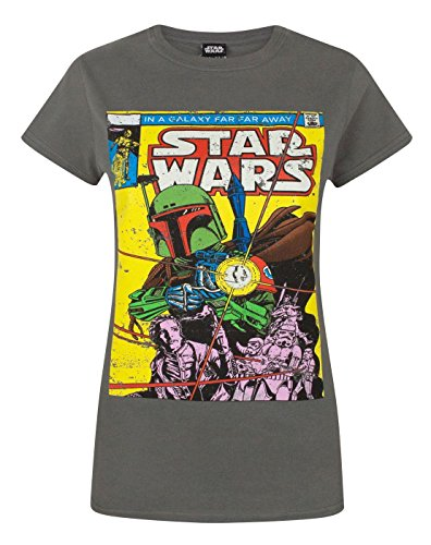 Fett-logo-t-shirt (Star Wars Boba Fett Comic Women's T-Shirt (L))