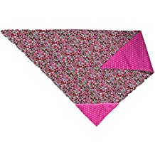 Alfred   Compagnie SOLDES Foulard triangle Liberty rose pointe pois blancs  66x45x45 2552586d71f