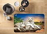 3D Tiger 215 Rutschfest Teppich Matte Raum Matte Qualität Elegant Teppich DE, AJ WALLPAPER Seven (H60cmxB90cm【23.6'x35.4'】)