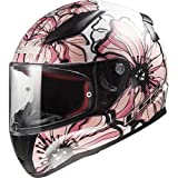CASCO INTEGRAL LS2 FF353 RAPID POPPIES WHITE PINK TALLA S