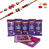 #8: Maalpani Stylish Rakhi Chocolate Hamper With Kankavati and Set of 2 Rakhi