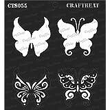 """CrafTreat Layered Stencil Template Butterflies 6""""X6"""""""