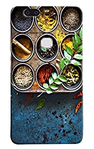 Omnam Indian Spices Combination Effect Printed Designer Back Cover Case For Huawei Honor V8