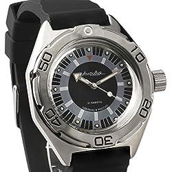 Vostok #670927 Classic Amphibian Mechanical Automatic Russian Wrist Watch 2415 Movement Resin Strap