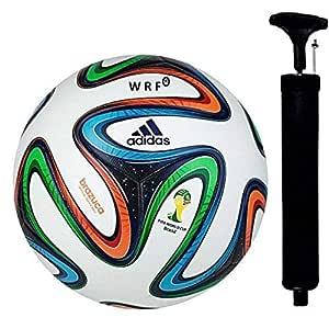 WRF Brazuca Multicolour Hand Stich Football Size-05...