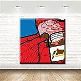 Stampa su Tela Canvas - Formato 50x50 - Stampa in Qualità Fotografica - quadri pop art - spiderman con cioccolata