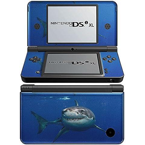 Leben im Meer 10097, Hai, Designfolie Sticker Skin Aufkleber Schutzfolie mit Farbenfrohem Design für Nintendo DSi XL