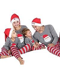 Internet 2 PCs Pyjama de noël de Famille Chemise d'intérieur Combinaison Pyjama Noël Ensemble Papa Maman bébé