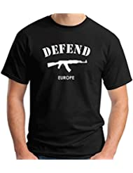 T-Shirtshock - T-shirt T0989B defend europe militari