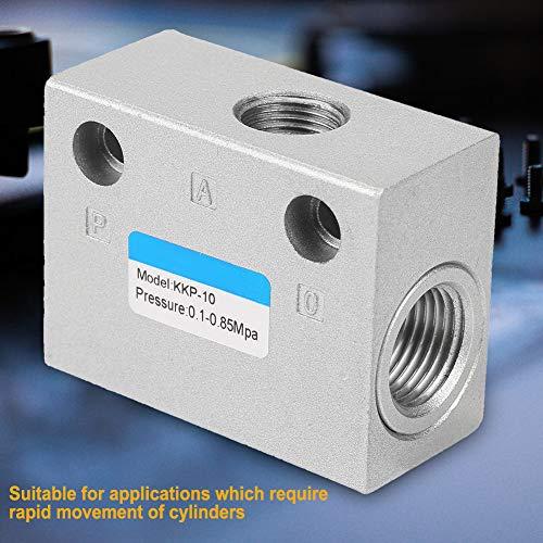 Steuerventile Schnellauslassventil G3/8'Langlebig Einweg Aluminiumlegierung Luft Niederdruck