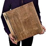 75 Blatt XXL Fotoalbum weißer Karton 39 x 37 cm Holz