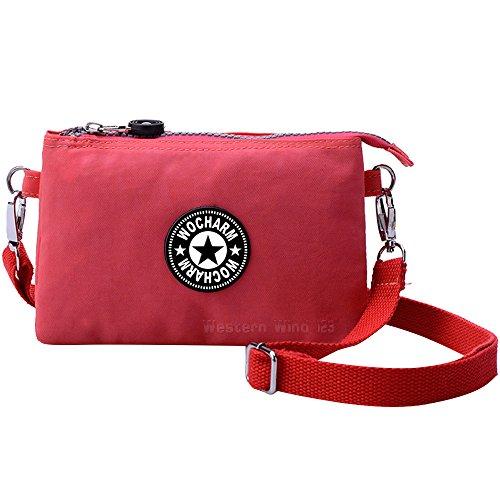 wocharm-multifunction-nylon-handbag-shoulder-diagonal-bag-wristlet-bag-zipper-purse-waterproof-black