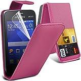 Eccellente Miglior Samsung Nota 4 Hot Pink raccoglitore di vibrazione caso rivestimento in pelle sintetica con due slot per schede per Samsung Note 4