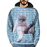 Herren Hoodie,TWBB Winter 3D Printed Pullover Kapuzenpullover Casual Tracksuits Mantel Oberteile Outwear Sweatjacke Blusen