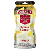 Smirnoff Lemon Sorbet Freeze & Squeeze Pre-Mixed Pouches 250ml (Pack of 9)