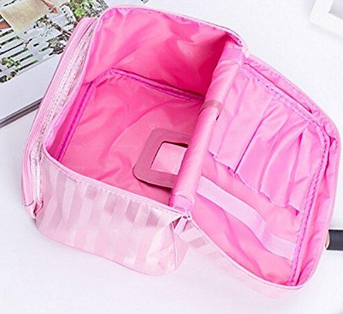CLOTHES- Versione coreana Travel Grande sacchetto cosmetico di alta capacità fresca di lavaggio il pacchetto sacchetto impermeabile di trucco sacchetto cosmetico ( Colore : Rosa ) Rosa