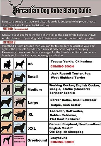 Mikrofaser Hunde Bademantel von Premium Qualität von Arcadian. Diese luxuriösen Bademäntel sind leicht, schnell trocknend und super saugfähig. Einfach zu verwenden, komfortabel und mit verstellbaren Trägern. Fantastisch, wenn zusammen mit einem Mikrofaser Hundehandtuch von Arcadian verwendet. 100% Zufriedenheitsgarantie! - 2