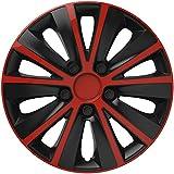 VERSACO RAPIDERB16 Rapide 40,6 cm Radzierblende, universell passend für 40,6 cm (16 Zoll), Rot/Schwarz, 4 Stück