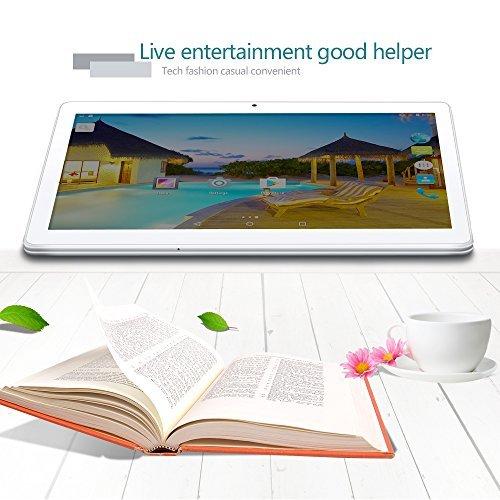 YUNTAB Tablet Pc 10.1 Zoll Tablet 3g- Android 5.1 Lollipop - Telefonieren - GPS- Navigation - Google play - 1GB RAM - 16GB - Dual kamera- battery 5000 mha - Bluetooth 4.0 (Silber) - 5