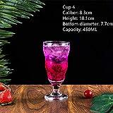 ABCCS Bicchiere da Vino, Ultra Chiaro, Vetro Senza Piombo, Cristallo, Bevande
