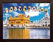Art n Store: All Ten Sikh Gurus and Golden Temple in Amritsar, High Contrast HD Printed Religious & Wall D