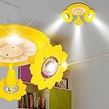 Sonne Decken Strahler Ø280mm/ Gelb/Lampe Leuchte Deckenstrahler Kinderlampe Kinderleuchte Kinderzimmer Kinderzimmerbeleuchtung Kinderzimmerlampe Kinderzimmerleuchte