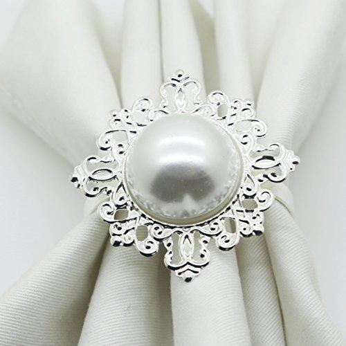 12serviettes de table Perle Bague serviette mariage Hôtel et fournitures