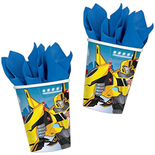 Amscan International 9901303 266 ml Transformers Robots In Disguise Papier Cup (Machen Roboter Kostüme)