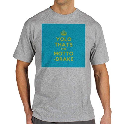 YOLO Yolo Thats The Motto Drake Blue Background Herren T-Shirt Grau