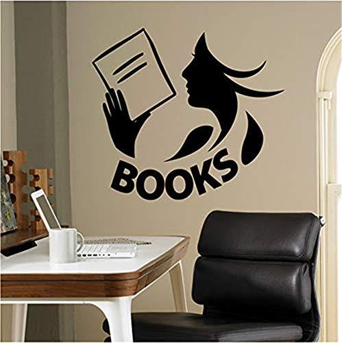 wandaufkleber schlafzimmer engel wandaufkleber graffiti Books Wall Decal Vinyl Sticker Library School Classroom Home Interior Living Room Children Bedroom Removable Mural (Book Graffiti Sticker)