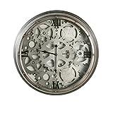 Casablanca Wanduhr Loft Metall/Glas D.60 cm anthrazit/silber,m.schwarzem Ziffernblatt