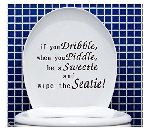 Saingace Wandaufkleber Wandtattoo Wandsticker,Gesture Hand Aufkleber Lustige Badezimmer WC-Sitz-Aufkleber-Zeichen für, wenn (Halloween Sprüche Zeichen)