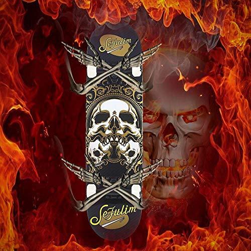 Zoom IMG-1 sefulim skull skateboard complete 31x8