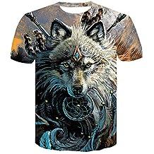 Camiseta para Hombre Club Basic/Street Chic - Color Block/Wolf Animal, Estampado