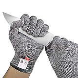 Paire de Gants Anti-Coupures Clyctip, Taille M/L - Gant Cuisine avec Protection de Niveau 5, Norme EN 388 - Meilleure Protection contre les Coupures du Quotidien Couteau Cuisines, Jardinage, Bricolage