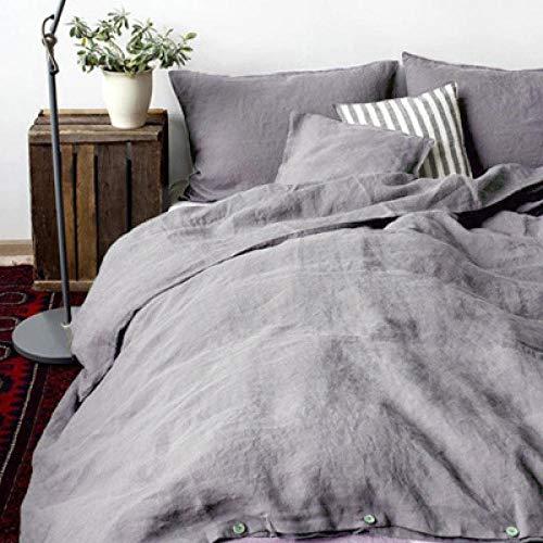 Generic Herbst Und Winter Einfache Warme Einfarbige Wäsche Baumwolle Leinen Hause Bettwäsche Bettbezug Kissenbezug 3/4 Sätze@2_1,5 M Bett -