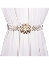 QIER-YD Cinturini alla Moda per Donna con Strass e Cintura Elastica con  Cinture di 0cebdcf51cb