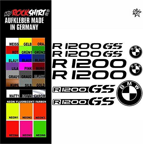 """myrockshirt® Aufkleber Set """"burgundy"""" BMW r 1200gs Aufkleber Set Sticker Decal kit 4578 Motorrad Tuning Set Bike aus Hochleistungsfolie ohne Hintergrund Profi-Qualität viele Farben zur Auswahl MADE IN GERMANY"""