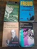 Lot de 4 livres de Freud : introduction à la psychanalyse - ma vie et la psychanalyse - le rêve et son interprétation - Cinq leçons sur la psychanalyse -