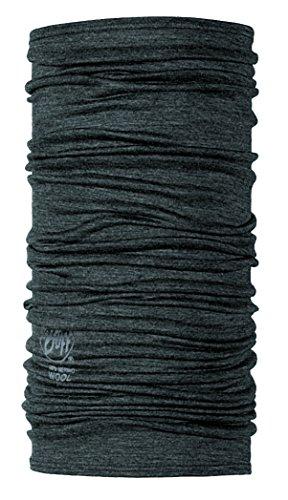 Buff Merino Wool Bandana/Scaldacollo/Fascia Multifunzione, Grigio, Taglia Unica