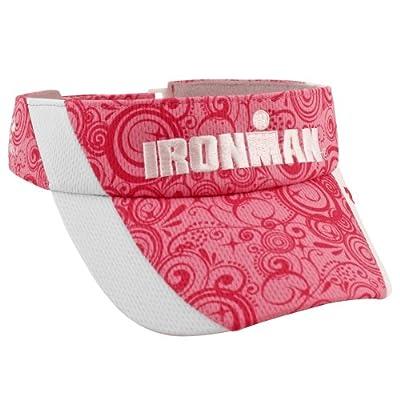 Headsweats Damen Sport Sonnenschild Ironman Sublimated Visor Sonnen-Schild, White/Pink, One size, 812068005916