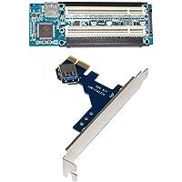 MagiDeal PCI-E Express X1 A Dual PCI Riser Extender Adaptador de Tarjeta Con Cable USB 3.0 Herramientas