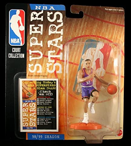 Starting Lineup Jason Kidd / Phoenix Suns * 98/99 Season * Nba Super Stars Super Detailed Figure, Display Base & Exclusive Upper Deck Collector Trading